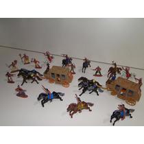 Indios Atacam Diligencias Carroça Cavalo Cowboy Forte Apache