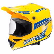 Capacete Motocross Liberty Mx Vision Amarelo 60 C/ Viseira