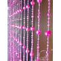Cortina De Miçanga E Contas Bola Cristal Pink