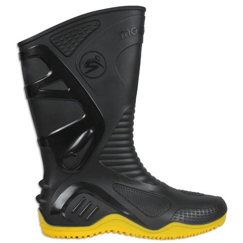Bota Impermeável Motosafe ( pvc ) Preto / amarelo 40 ( br ) Rs1