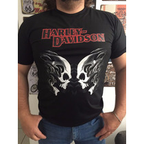 Camiseta Harley Davidson Double Skull - Limited Edition