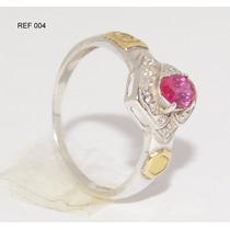 Anel De Formatura Prata 950k Emblemas Em Ouro 18k Ref 004