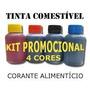 Tinta Comestível Para Impressoras - 400ml (100ml Cada Cor)