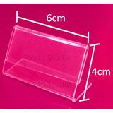 Display Preço Etiqueta Buffet -ps Cristal (similar Acrílico)
