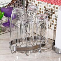 Mesa Cozinha Suporte Copos Inox Porta 6 Copos