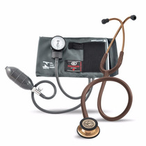 Kit Estetoscopio Littmann 3m Chocolate+ Esfigmomanômetro Bic