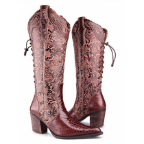 Bota Country Texana Feminina Montaria Anaconda Capelli Boots