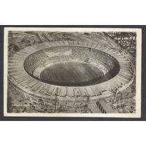 Postal Antigo Estádio Municipal Maracanã Rio. Futebol.