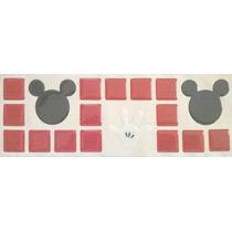 Novidade Pastilhas Adesivas Resinada, Faixa Mickey, Banheiro