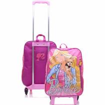 Mochila De Rodinhas Infantil Sestini G 16m Rosa Barbie