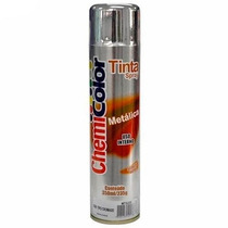Tinta Spray Cromada Metálica Chemicolor Uso Geral 400ml