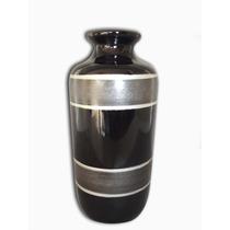 Vaso Mesa Decorativo Preto, Vaso Cerâmica Clássica