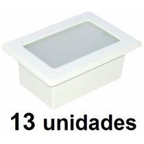 13un. Luminária Embutir Alumínio Injetado 6800 Br Germany