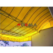 Lona Forte P/ Toldo Cobertura Fachada Amarela 2,25 X 2,60