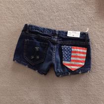 Short Jeans Bandeira Usa