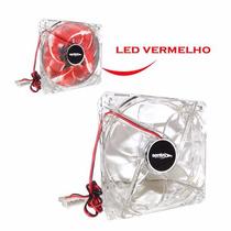 Cooler Fan Para Gabinete 120mm X 120mm C/ Led Vermelho