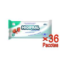 Toalha Umedecida Higifral Com 40 Un. - 36 Pacotes