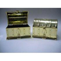 Mini Lembrancinha Mini Baú Acrilico Dourado - Pct C/ 10