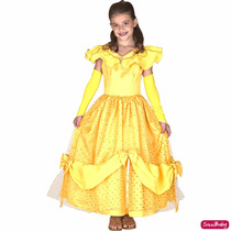 Fantasia Princesa Bela Infantil Luxo Pronta Entrega