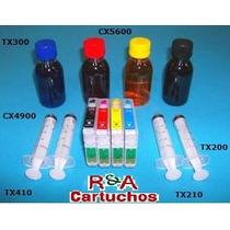 Kit Recarregavel Cx 5600/tx200/210.....c/ Tinta Sublimatica