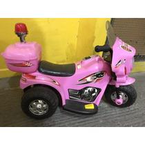 Mini Moto Eletrica Infantil Triciclo Cor Rosa