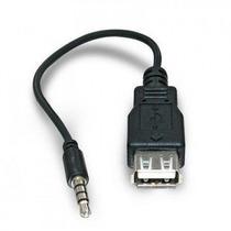 Cabo Adaptador Plug P2 X Usb Femea Som Carro Mp3/mp4