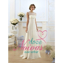 Vestido Noiva Novo G Renda Gestante Pronta Entrega