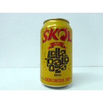 Lata Cerveja Skol Lollapalooza - Vazia