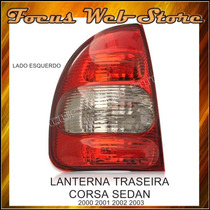Lanterna Traseira Corsa Sedan 2000 2001 2002 2003 Lado Esq