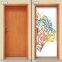 Adesivo Decorativo De Porta - Pintura - 662mlpt