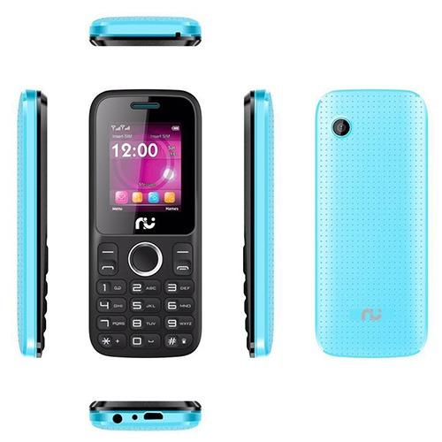 Celular Riu 1, Desbloqueado Preto E Azul, 2 Chips, Radio
