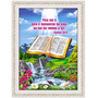 Quadro Biblico 60x80 - Moldura - Biblia Fonte Luz - Salmo 36