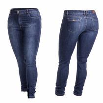 Calça Jeans Skinny Cos Alto Fact Plus Size 2445 Linda Perfei