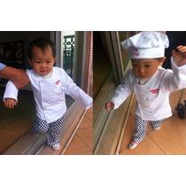 Roupa Infantil Baby Master Chef Em Algodão Alta Qualidade