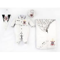 Saída Maternidade Corinthians Menino Plush Luxo Porta Bebê