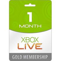 Xbox Live Gold - Cartão De 1 Mes (30 Dias) - Envio Imediato!