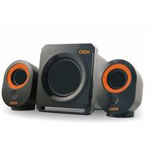 Speakers Caixa De Som Amplificadora Oex Entradas Usb P2 Sd