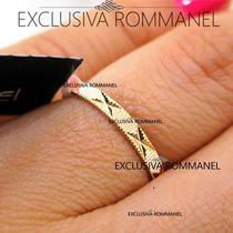 Rommanel Aliança Namoro Compromisso Folheada Ouro 18k 510027