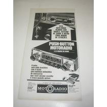 ( L - 290/ G ) Propaganda Antiga Rádio Motoradio