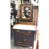 Lavatório Penteadeira De Madeira - Espelho Tampo De Mármore