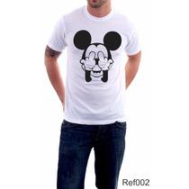 Camisetas Personalizadas Mickey Masculina Homem Engraçada