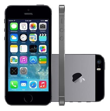 Iphone 5s 64gb 3g Preto Prata Original Nf Garantia Vitrine