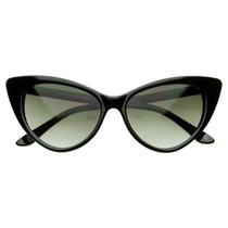 Óculos Gato Gatinho Cat Eye Armação De Sol Vintage Preto