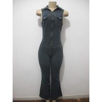 Macacao Jeans Com Strech Damyller Tam 40 Usado Bom Estado