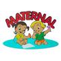 Placa De Identificação De Porta Maternal- Vermelho Em Eva