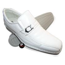 Sapato Social Masculino Branco Em Couro (médicos,enfermeiro)