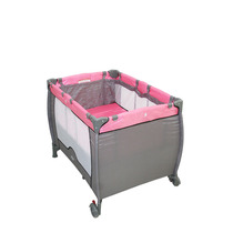 Berço Desmontável Baby Style Compacto Rosa