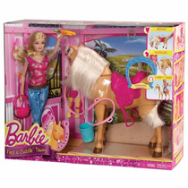 Boneca Barbie Family Barbie Com Cavalo Mattel