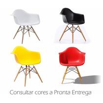Cadeira Charles Eames Com Braço New Wood Design Dsw Em Pp