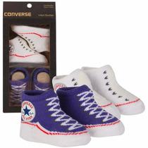 All Star Converse Kit Meia Tênis Bebe 0 A 6 Meses Original